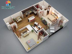chung cư thông minh 2 phòng ngủ